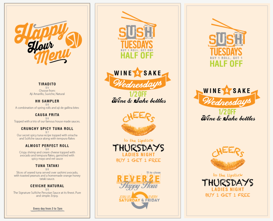 SuViche Happy Hour Menu_Las Olas