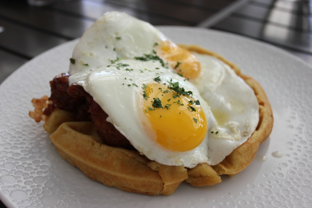 korean fried chicken and waffles