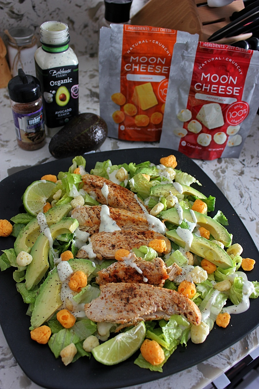 keto salad recipe with moon cheese